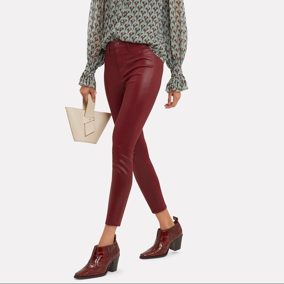 L'agence Margot Ankle-Length Coated Jeans